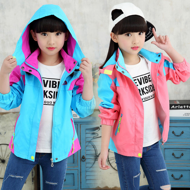 Girls' Coat Jackets 2018 Spring New 4–12 Year old Sports and Leisure Kids Wear Baby Girl Clothes Lovely Baby Girl Clothes
