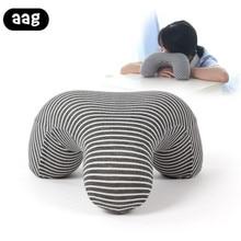 AAG Memory Foam Nap Head Neck Pillow Office Table School Desk Cushion Slow Rebound Headrest Massage Cervical Sleep