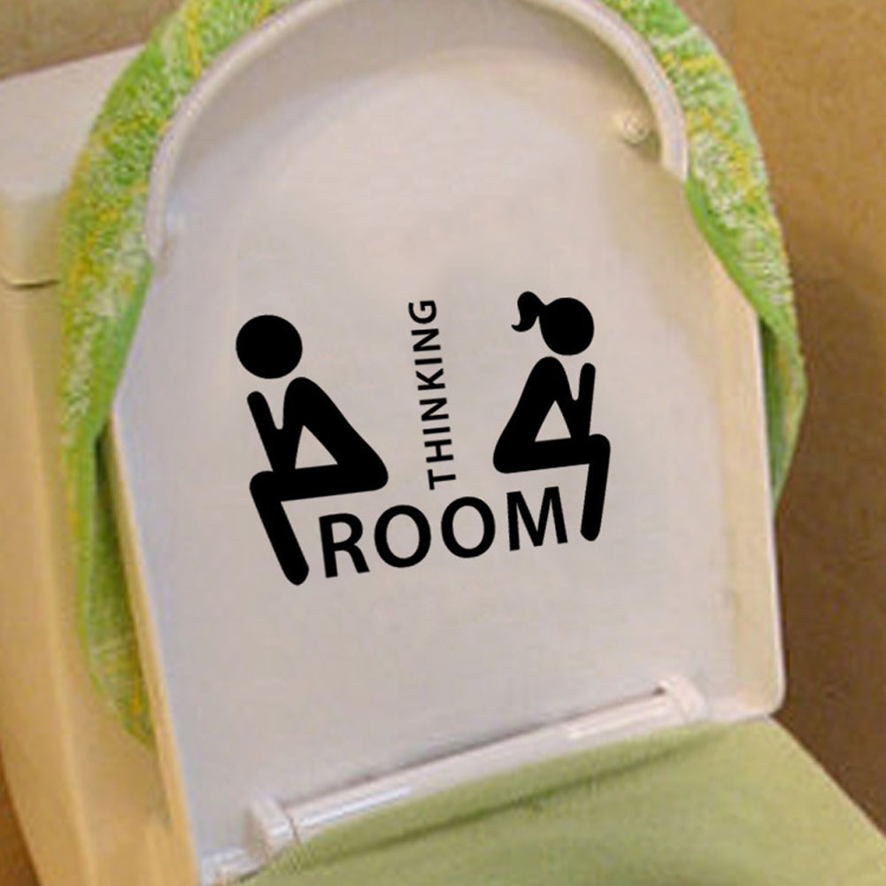 Съемный мышление комнаты Тол и wc украшения Наклейки Милая Фея Ванная комната двери туалета wc индикация Марк Наклейки