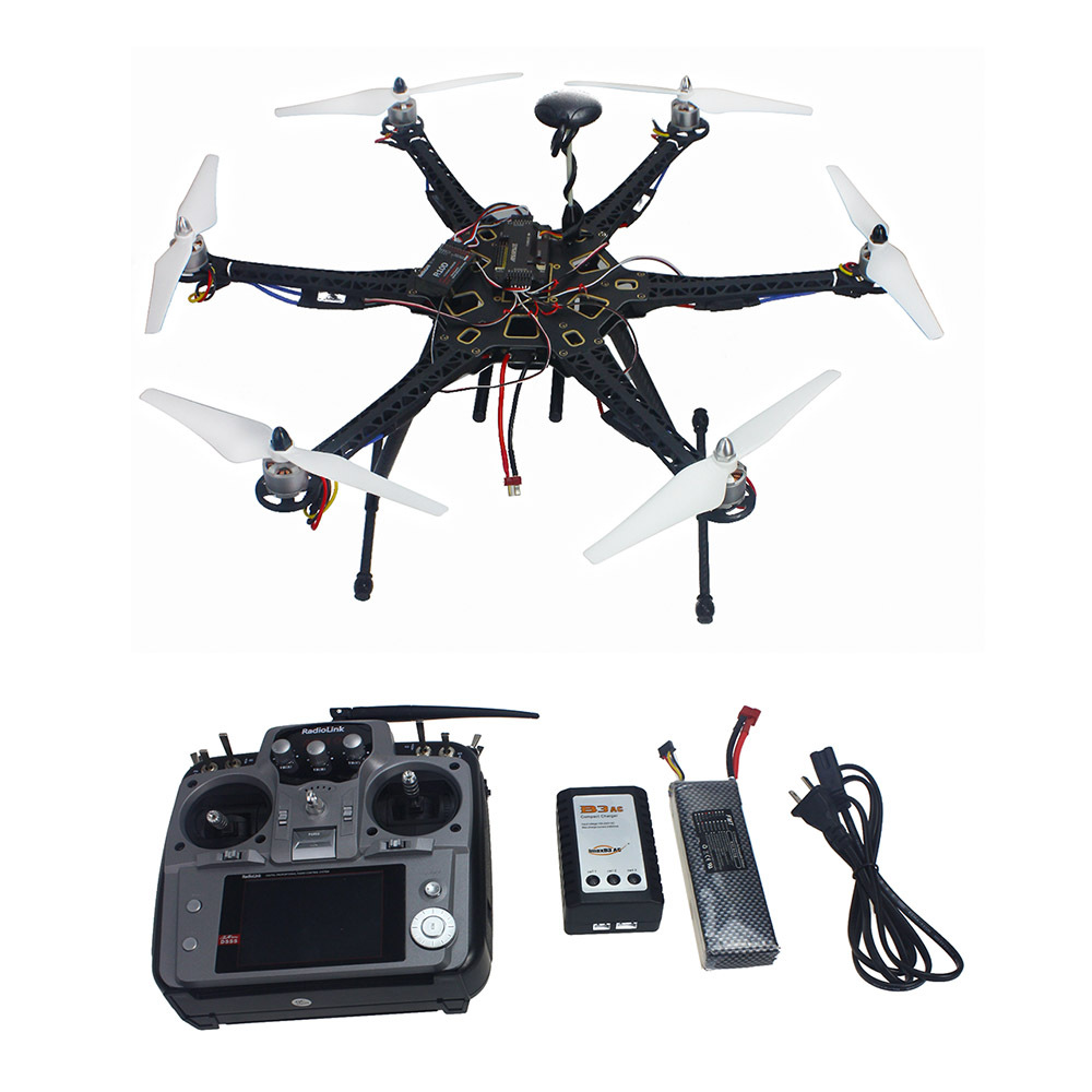 Assembled Full Set Drone RC RTF HMF S550 Frame GPS APM2.8 Flight Control with Compass AT10 TX/RX F08618-J
