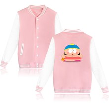 Sitcoms South Park Women Jacket Black/Pink in Eric Cartman Womens Winter Jackets and Coats Plus Size for Autumn XXS 4XL