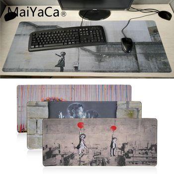 Maiyaca-alfombrilla de ratón de goma para Graffiti Street Art Banksy, alfombrilla de...
