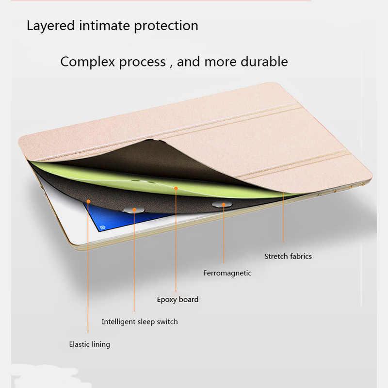 """الحرير جلد الوجه حافظة لهاتف Huawei Mediapad T5 10 AGS2-W09/L09/L03/W19 10.1 """"غطاء ذكي لهواوي الشرف سادة 5 10.1 جراب كمبيوتر لوحي"""