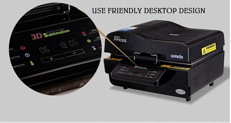 Heißer verkauf 3D Sublimation Transferpresse Drucker 3d vakuum wärmepresse Drucker Maschine Druck für Fällen Tassen Teller Gläser - 2