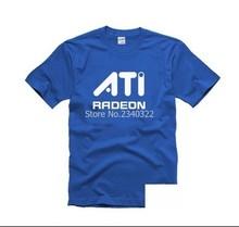 it geek male female summer short-sleeved cotton ATI radeon T-shirt graphics card T shirt