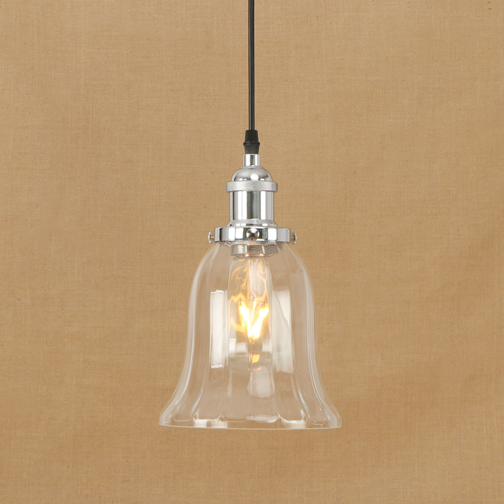 Glass Lampshade Loft Vintage Pendent Light Iron Lamp Head Retro Small Decor Chandelier Cafe Restaurant Lamp Chrome Bronze Lights the cafe shop vintage clothing store small chandelier bar loft iron chandelier geometry character