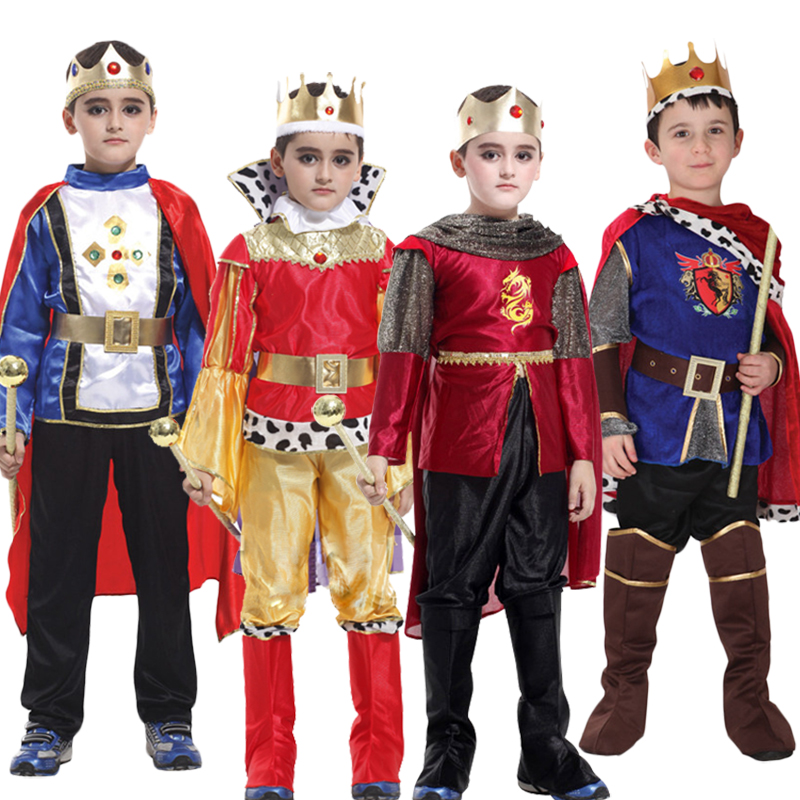 The King Prince with crown Halloween for Children Cosplay Costumes Children's Day Boys Fantasia European royalty clothing