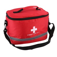 Red Nylon Striking Cross Symbol High Density Ripstop Sports Camping Home Medical Emergency Survival First Aid