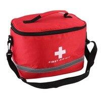 Nylon rosso Striking Simbolo della Croce Ad alta densità Ripstop Sport Camping Home Medical Sopravvivenza Di Emergenza First Aid Kit Bag Esterna