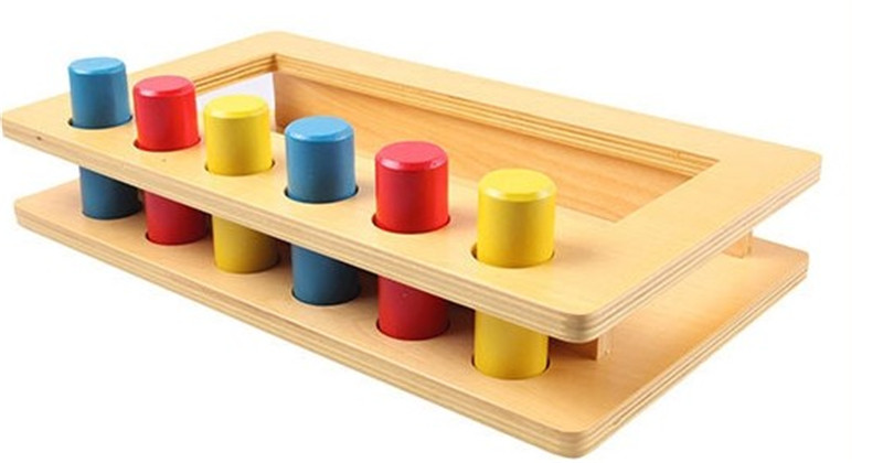New Wooden Baby Toy Montessori Wood Tri-color cylinder insert box Learning Educational Preschool Training Baby Gifts микас 7 2 31602 3763010 дмрв бош нитевой