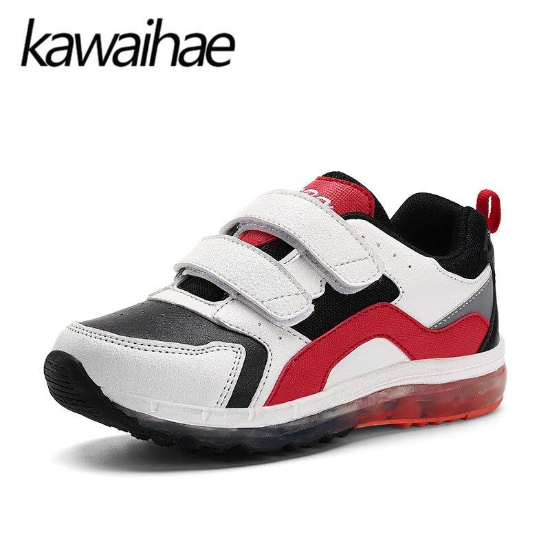 2017 New LED Big Size 25~37 Boys Girls Casual Shoes Kids Brand Comfortable Fashion Flats Children Shoes Shining Kawaihea 1550