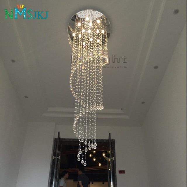 Modern Luster Crystal Chandeliers Lighting Dia80cm Fitting LED Pendant Lamp  For Foyer Dining Room Restaurant Decoration