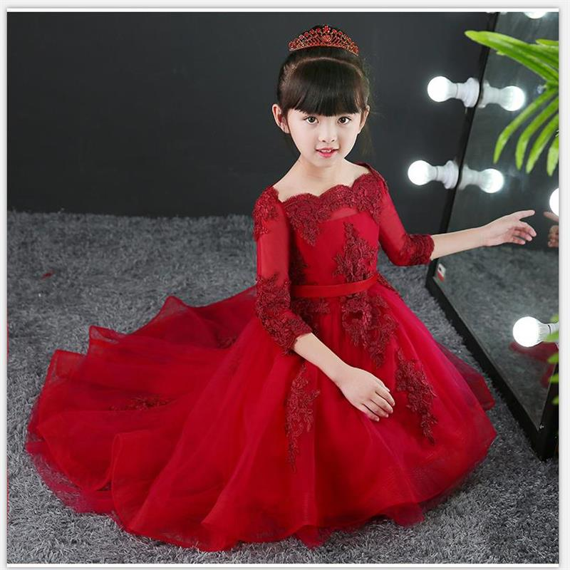High quality New Style Princess Baby Girls Toddler Lace Tutu Communion Dress Layered Party Wedding Bow Formal Flower PageantHigh quality New Style Princess Baby Girls Toddler Lace Tutu Communion Dress Layered Party Wedding Bow Formal Flower Pageant