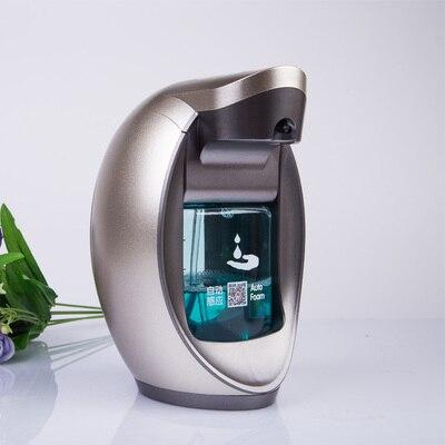 Distributeur automatique de savon de lavage à la main de mousse intelligente capteur électronique désinfectant pour les mains bouteille mousseuse fixée au mur