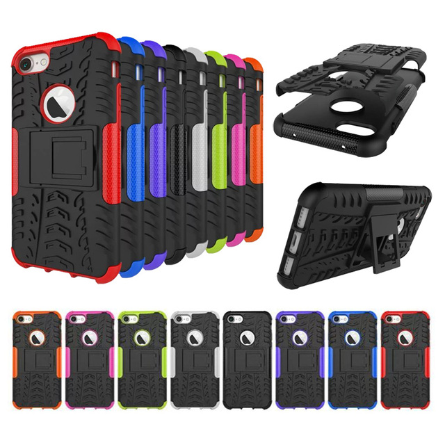 size 40 2057f 7e7bd Aliexpress.com : Buy 100PCS/Lot Armor Stand PC Case For Apple iPhone 7 4.7  Hybrid Soft Back TPU Cover By DHL from Reliable pc case brands suppliers on  ...
