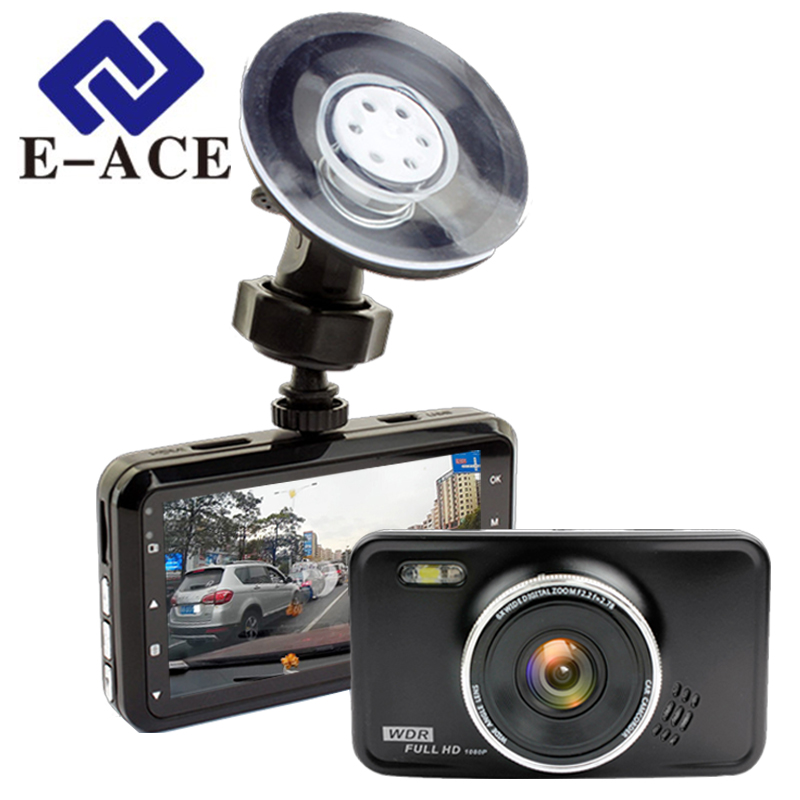 E-ACE Novatek Dashcam Car Dvr Auto Mini Camera Mirror Night Vision Full HD 1080P Video Recorder Carcam Camcorder Automotive Dvrs e ace car dvr original novatek 96223 mini camera full hd 1080p digital video recorder dash camcorder auto registrator dashcam