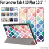 Patterned Case For Lenovo Tab 4 10 Plus 10 1 Inch PU Leather Folding Magnetic Sleep