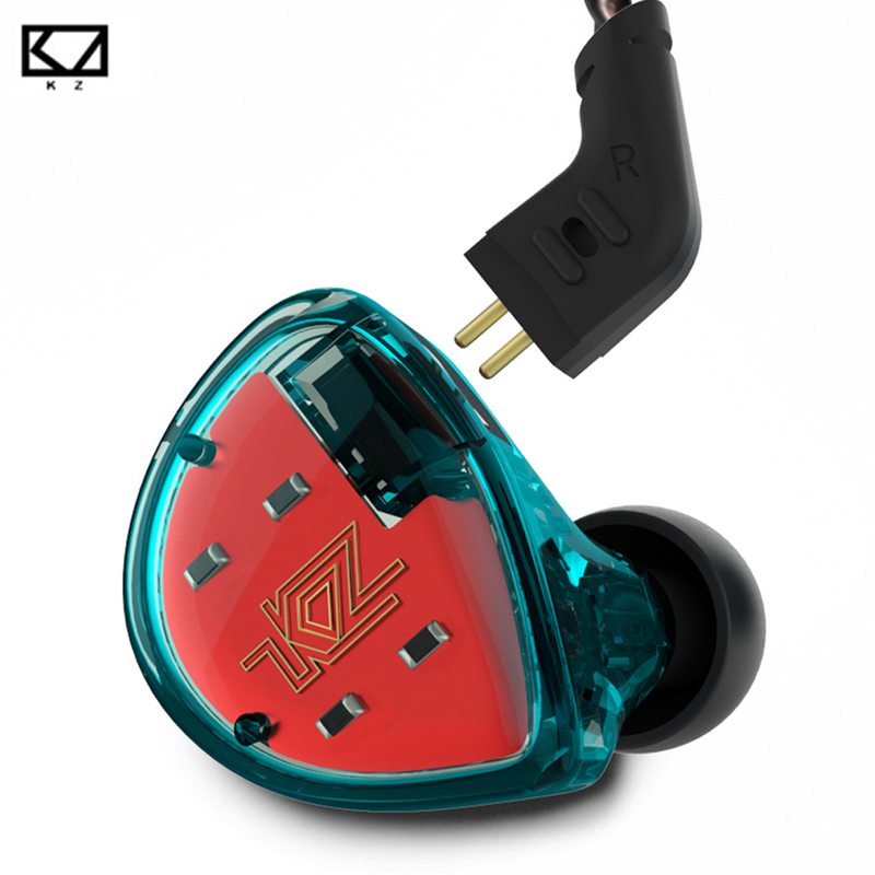 Original KZ ES4 Monitor Armature And Dynamic Hybrid Headset In Ear Earphone Sports Earbuds HiFi Bass Noise Cancelling Headphones admi headphones dual drivers dynamic wired music headset with mic bass sports in ear earphones noise earbuds auricolari ecouteur