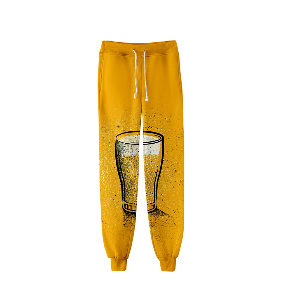 2019 New 3D Style BEER Pattern Pants High Quality Sports Pants Trousers Fashion Popular Trend Comfortable Casual Pants
