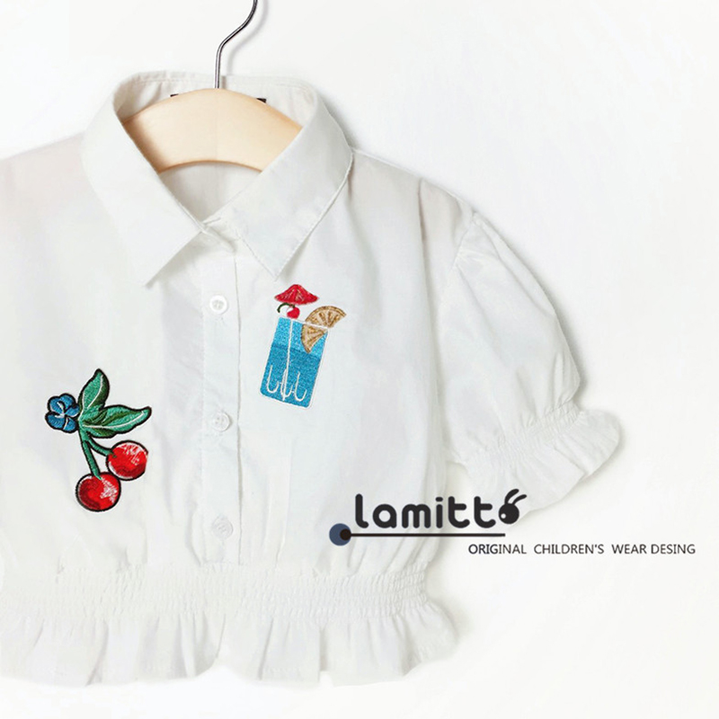 1 5y Spring Baby Girls Shirts Cute White Blouse Infant Toddler Girl