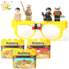 New Building Blocks Of Glasses Baseplate Frame Compatible Legoed Minecrafted Friends Police City DIY Toy Glasses Bricks Kid Gift