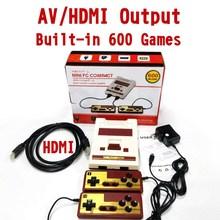 8Bit ريترو 4K HD HDMI & AV الناتج اجهزة اللعبة الالكترونية المحمولة الأسرة التلفزيون لعبة فيديو صغيرة وحدة التحكم المدمج في 600 الألعاب الكلاسيكية ل NES