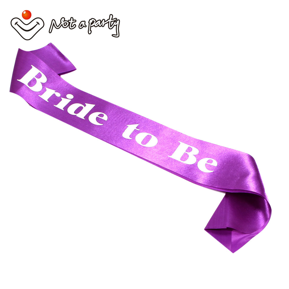 60off For 3pcs Purple Sash Hens Bachelorette Birthday Party Supplies Accessories Wedding Favors And Gifts Marriage