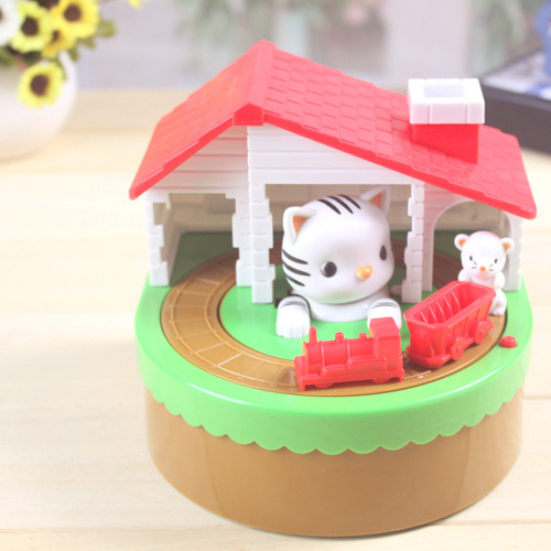 2015*Itazura Automated Stealing Coin Cat Mouse Kitty Coins Penny Piggy Bank Saving Box Kid Present Gift
