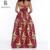 2016 Conjuntos de verão vestidos Africanos para As Mulheres top curto e saia longa de mangas curtas strapless batik Padrão da Cópia Do Vintage