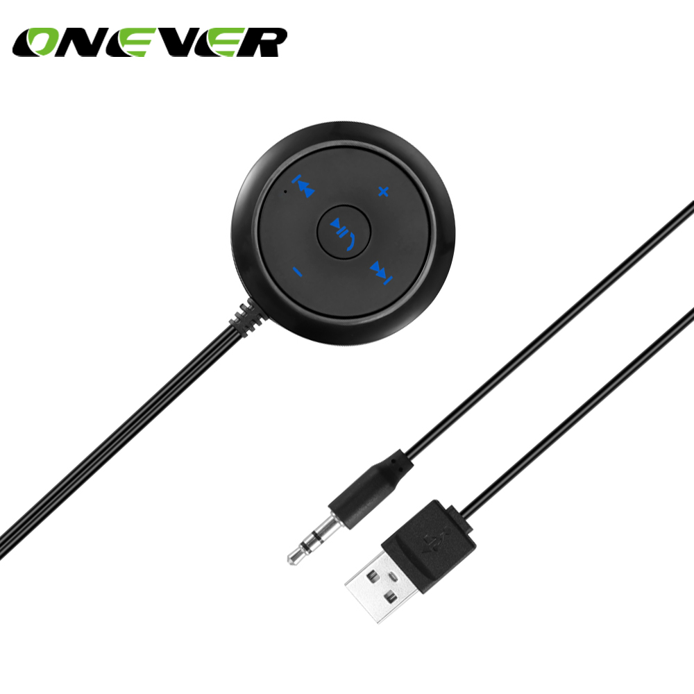 Car Bluetooth Music Receiver Biaota A1 Hands Free: Onever Car 3.5mm Bluetooth Receiver Music Audio Receiver Adapter Hands Free Car Kit A2DP