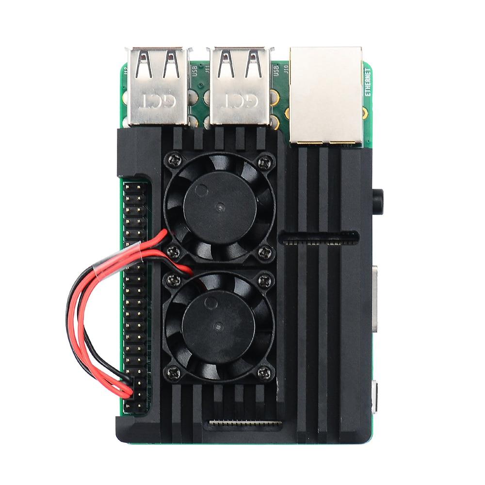 Image 4 - Чехол Raspberry Pi Armor, металлический корпус Raspberry Pi с двойным вентилятором из алюминиевого сплава, вентилятор Raspberry Pi, для Raspberry Pi 3 Model B +-in Доски для показов from Компьютер и офис
