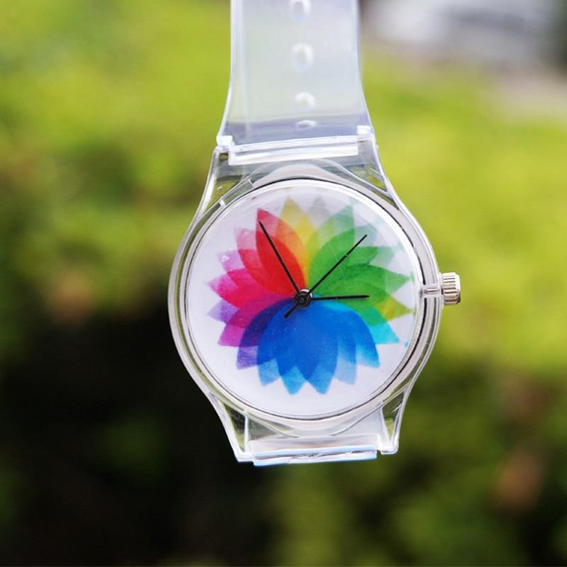 Fashion Cute Children Watches Clock Boys Girls Sport Wristwatches Transparent Silicone Kids Watch Waterproof Enfant Relogio Gift