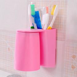 Современные Дизайн дома Ванная комната Магнитный всасывания Зубная щётка держатель висит душевая ABS Магнитная полоскание чашки Красота