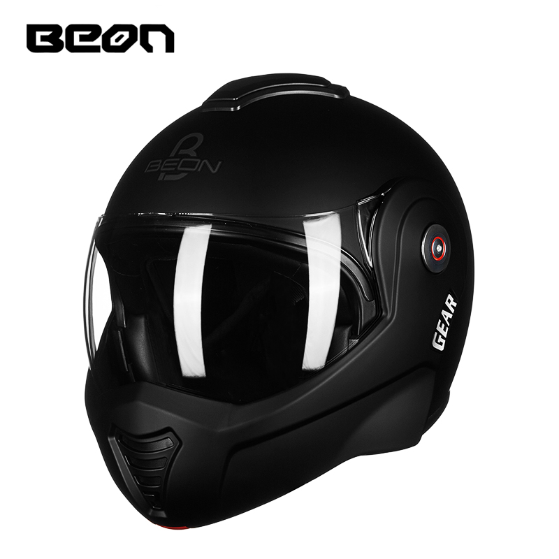 NEW BEON Motorcycle Flip up Vintage helmet full four seasons personality cool Safety Helmet Racing Helmets цена