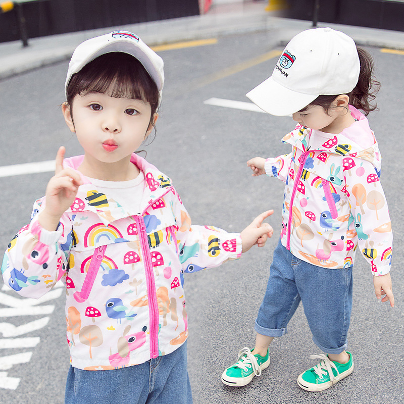 Childrens stormwear cartoon outerwear for spring wear ages 3-7