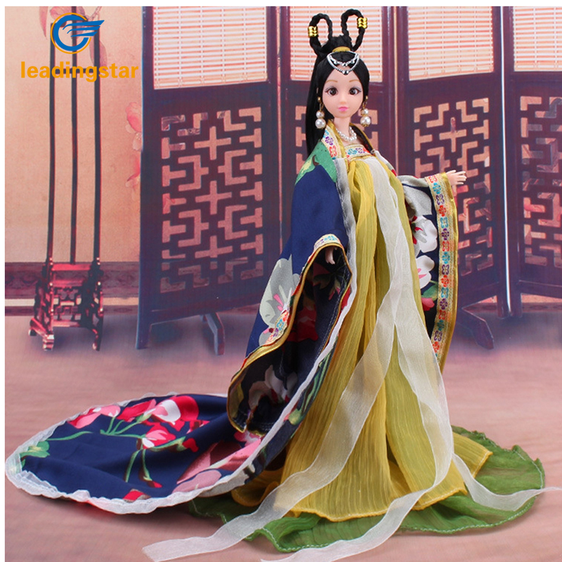 LeadingStar 2017 New Barbie Doll Clothes Traditional Chinese Classical Style Costume Chinese Ancient Mythological Clothes zk15