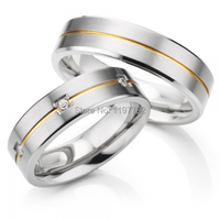 custom 5mm comfort fit his and hers lover bridal rings titanium wedding band anniversary rings sets titan trauringe