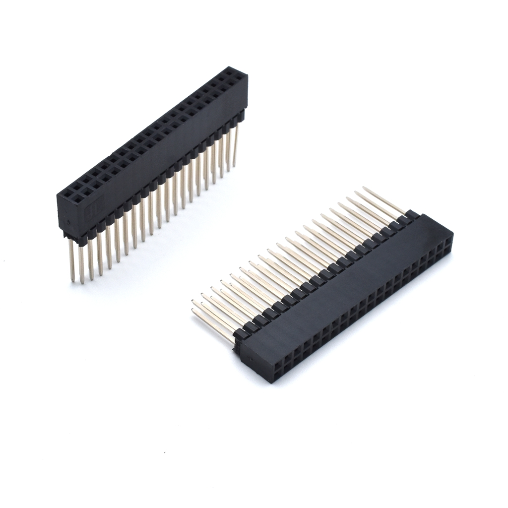 10 Pcs/lot 2.54mm Pitch 2x20 Pin 40 Pin Female Double Row Long Pin Header Strip PC104 2 pcs new 2 54mm pitch 2x20 pin 40 pin female double row long pin header strip pc104