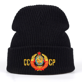 2018 New CCCP Russian national emblem Beanies Men Women Hip Hop Skullies Autumn Winter Hats Warm Hat Unisex Casual Cap 2018 new cccp russian national emblem beanies men women hip hop skullies autumn winter hats warm hat unisex casual cap