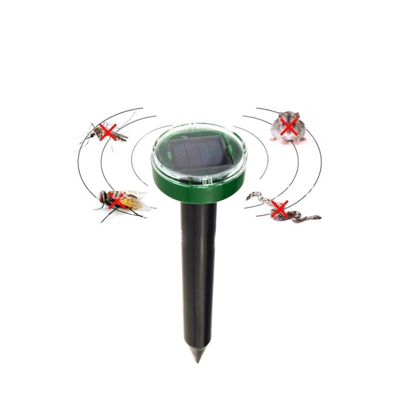 Image 2 - Outdoor Garden Mole Repellent Solar Ultrasound Mole Snake Bird Mosquito Mouse Ultrasonic Deworm Control Gardening Tools-in Repellents from Home & Garden