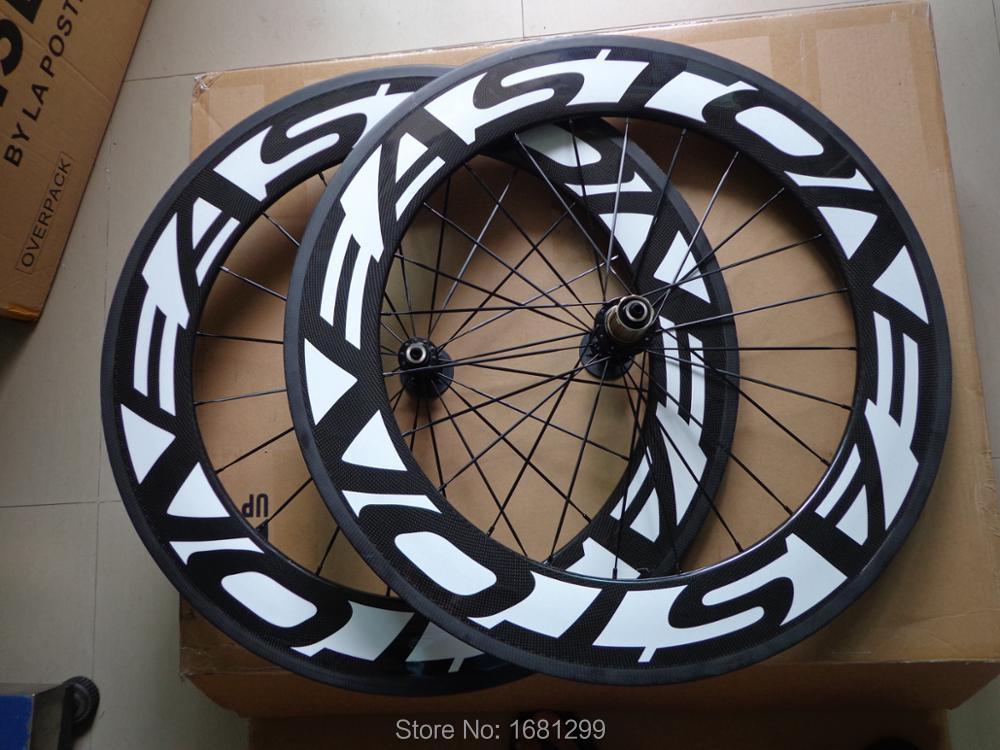 Nova marca aero 700C 88mm clincher aro de bicicleta de Estrada 3 K UD 12 K fibra de carbono completo rodado bicicleta V freio 23 25mm de largura Frete grátis