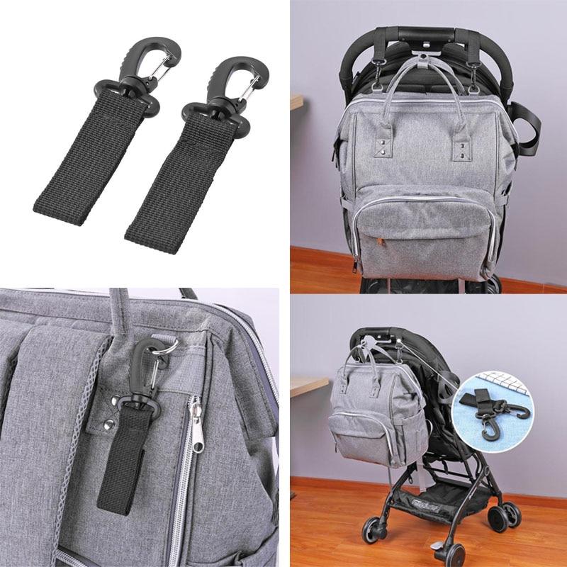 4pcs Shopping Bag Buggy Hooks For Pram Pushchair Stroller Clips Large Hand Carry