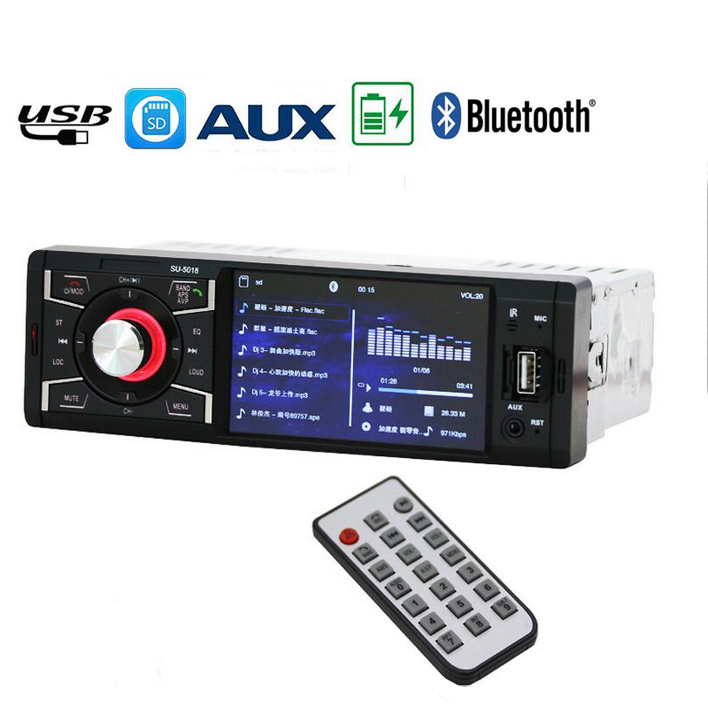 autoradio bluetooth car audio player car radio tuner 1 DIN with HD Digital Screen FM MP3 MP4 Player Reverse Image SD USB Charger 2 5 inch car radio high quality cd dvd player car audio stereo with fm tuner bluetooth autoradio aux mp3 player sd usb charger