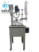 10l Professional Manufacturer Single-deck Electric heating glass Chemical reactor prices