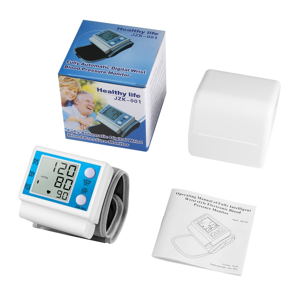 Automatic Digital Arm Blood Pressure Monitor Sphygmomanometer Pressure Gauge Meter Tonometer For Measuring Arterial Pressure New