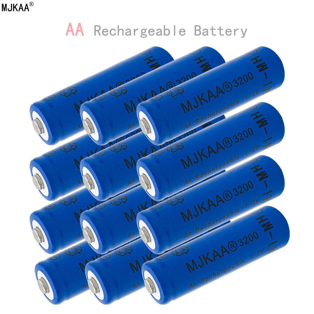 12pcs a lot Ni-MH 3200mAh AA Batteries 1.2V AA Rechargeable Battery NI-MH battery for Remote control Toys LED lights powerful underwater flashlight led scuba diving lanterna xml l2 waterproof led torch dive light 18650 26650 rechargeable battery