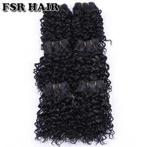 Image 3 - FSR syntetyczne doczepiane włosy krótkie perwersyjne kręcone włosy tkackie 6 części/partia 210g produkt do włosów