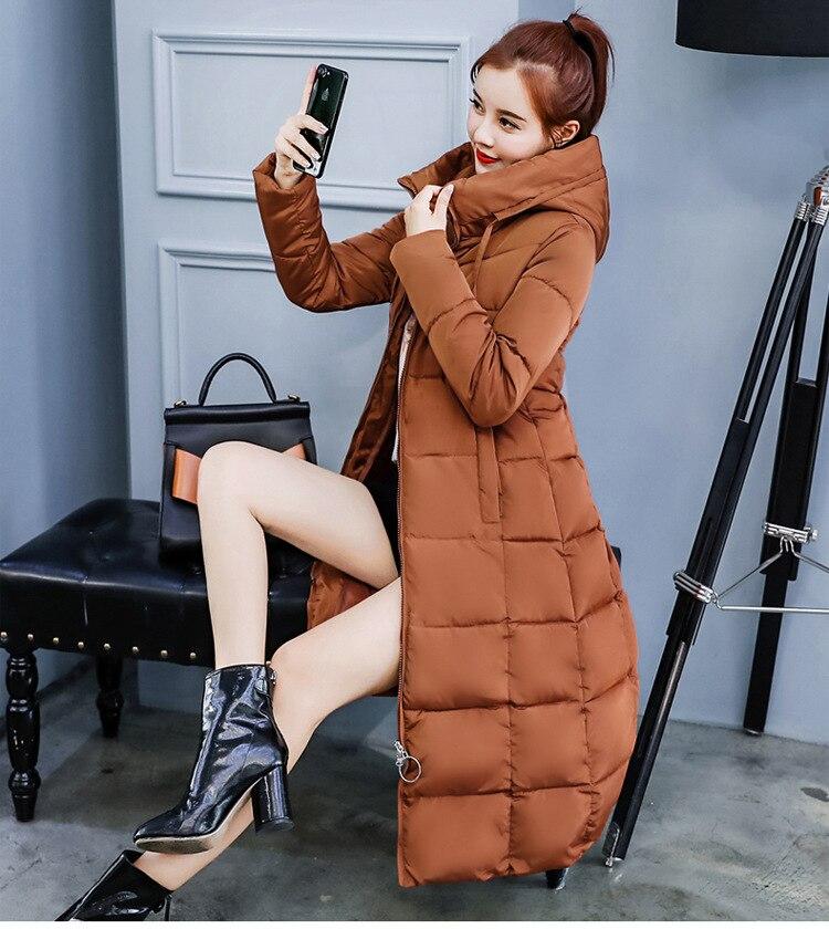 noir Feminina Manteaux De Femme Femmes Chaud Coton Mode 2018 Solide À Casual D'hiver Long Capuche Green Parka army Caramel Hiver Poches gris Veste Oaq54x5Hw