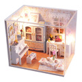 M011 New Arrive Doll House miniatura 3D Wooden Diy Dollhouse miniature accessories For Children Toys dolls houses