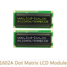 5V 1602A Dot Matrix Screen Module Black Backlight Yellow word LCD Display Module L5(China)